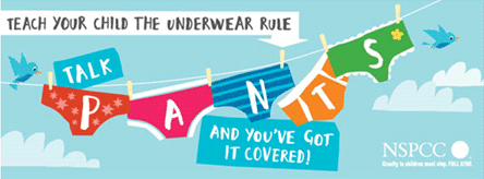 Teach your child the NSPCC's Underwear Rule